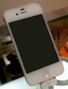 layar iphone mati blank hitam